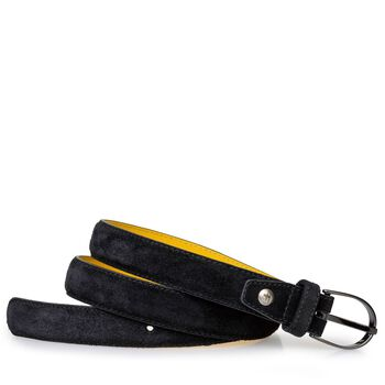 Belt suede leather black