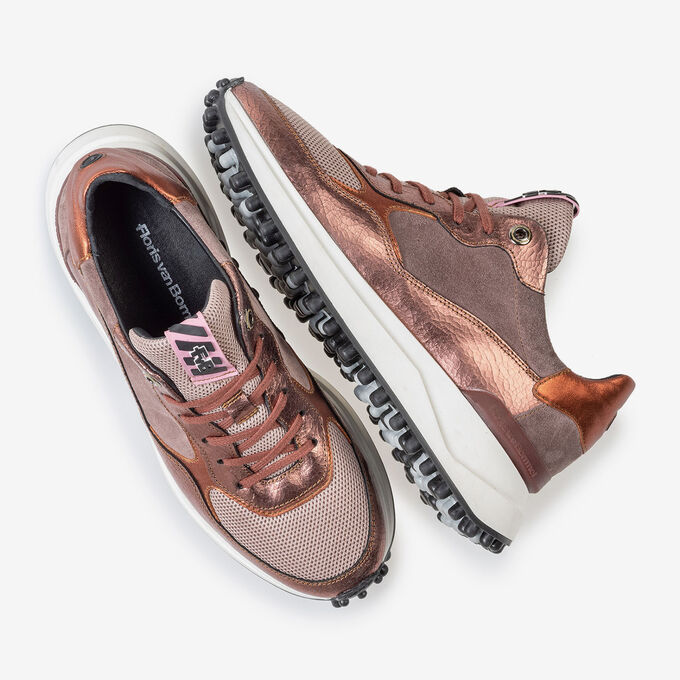 Noppi sneaker pink leather