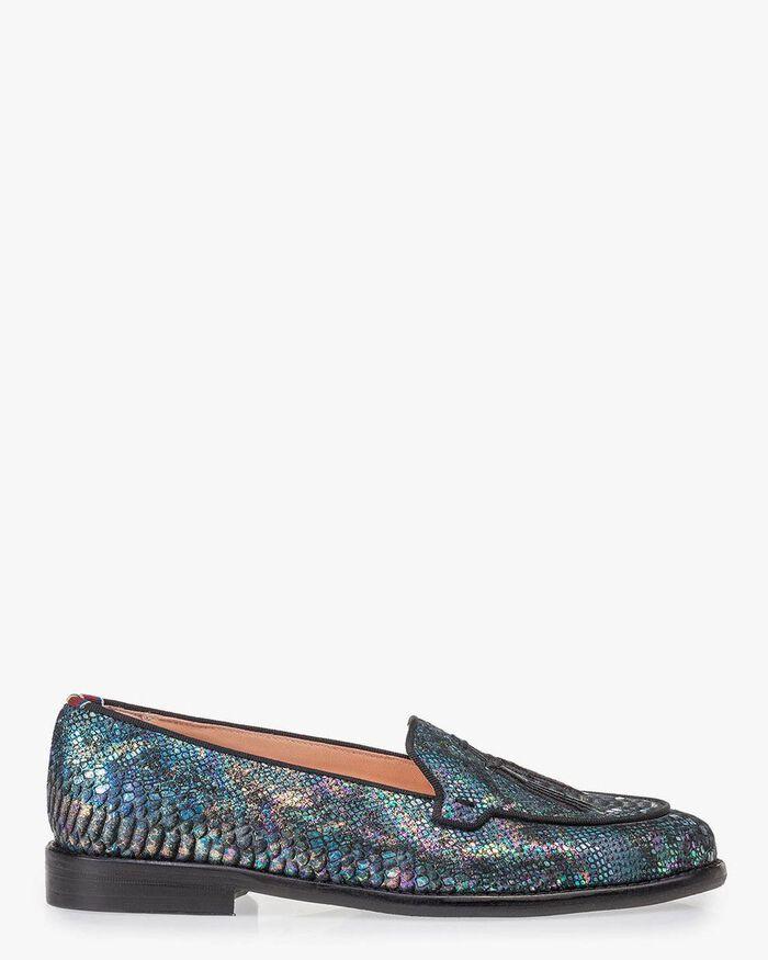 Loafer multi-colour snake print