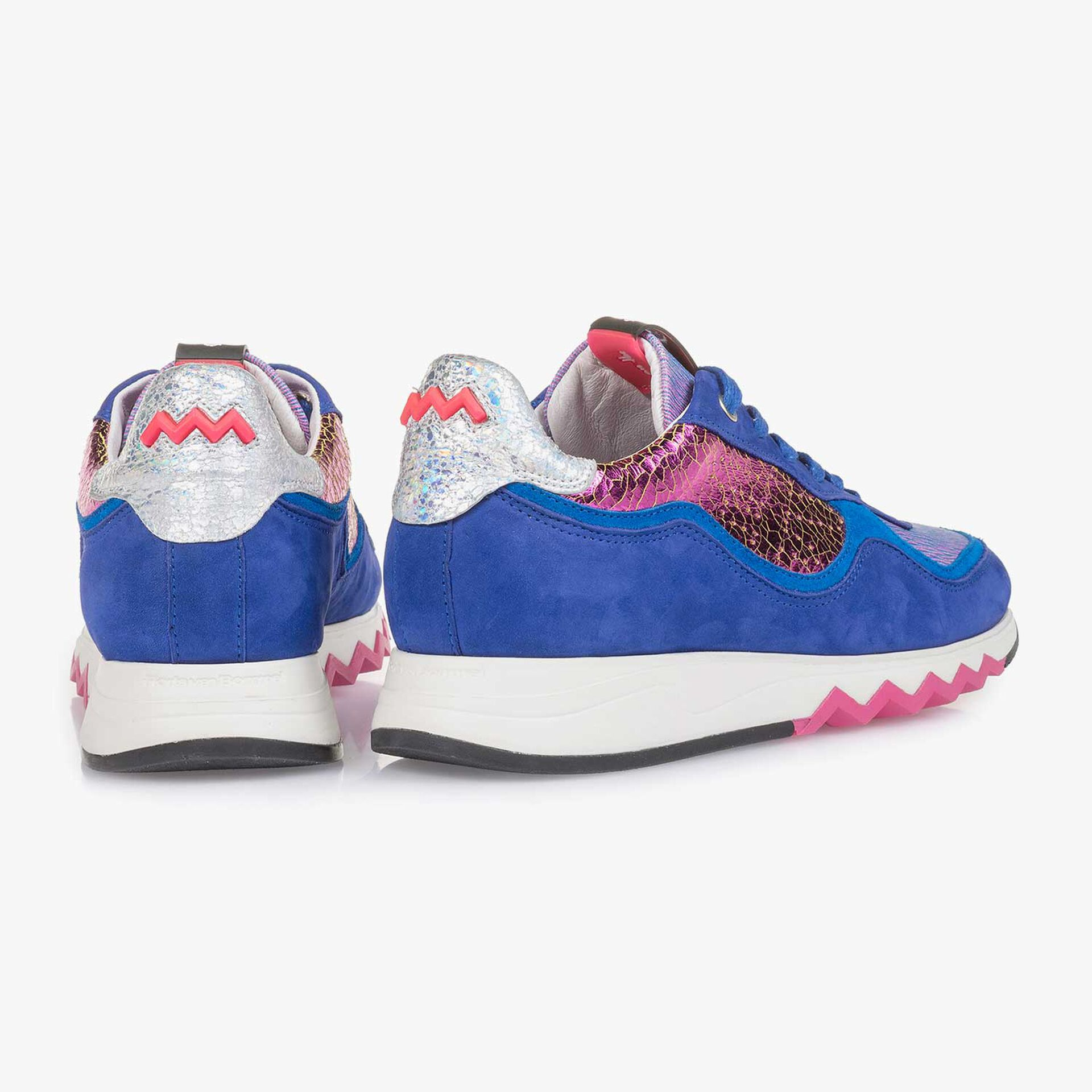 Cobalt blue suede leather sneaker