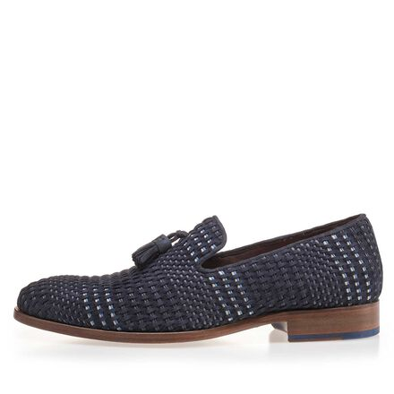 Braided suede leather loafer