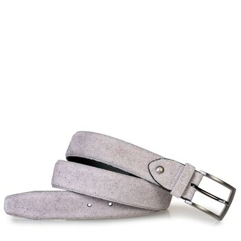 Belt suede leather sand-coloured