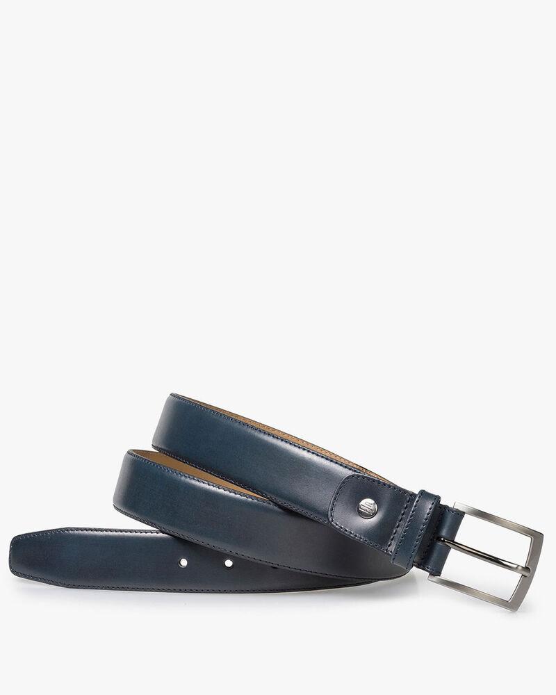 Blue calf leather belt