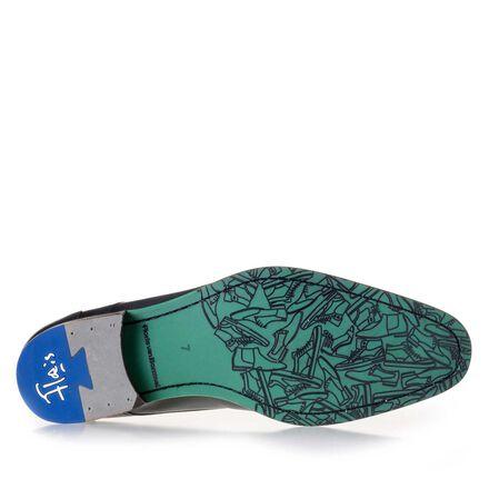 Laser-printed leathr lace shoe