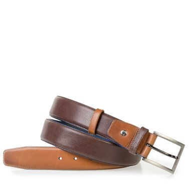 Dressed calf's leather belt