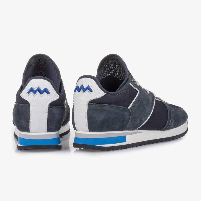 Dark blue nubuck leather sneaker