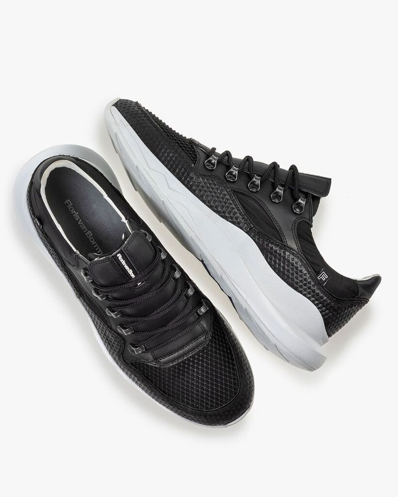Bulki sneaker black leather