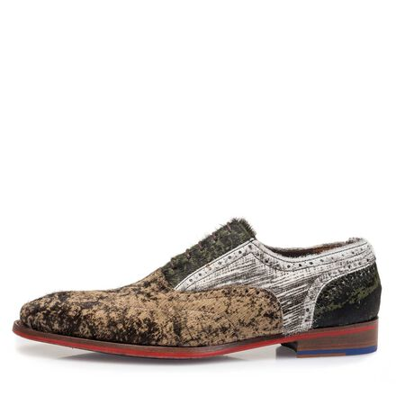 Premium ponyhair lace shoe with print