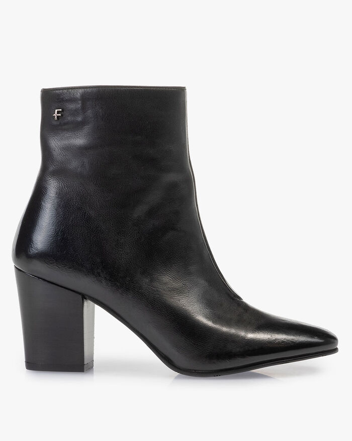 Ankle boot nappa leather black