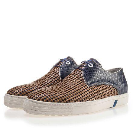 Premium combi-leather sneaker