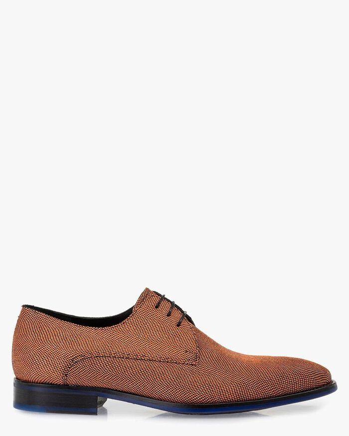 Lace shoe suede orange