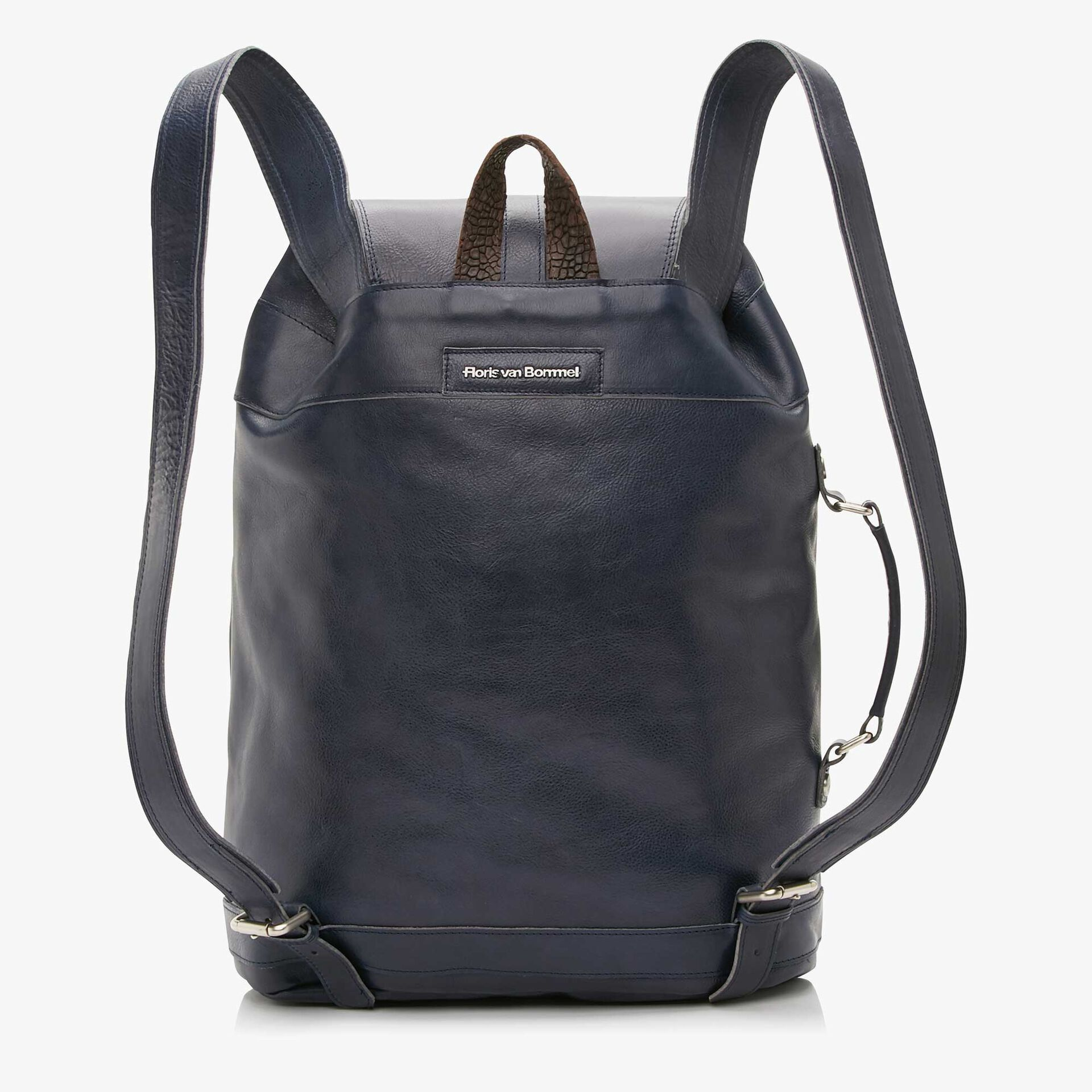 Floris van Bommel blue leather backpack