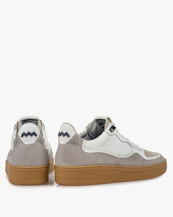 Sneaker suede leather white