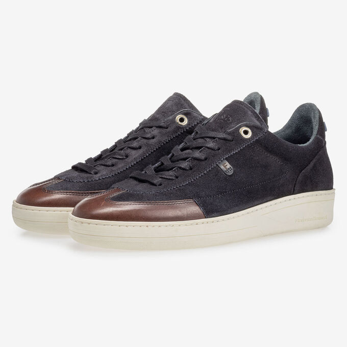 Sneaker suede leather black