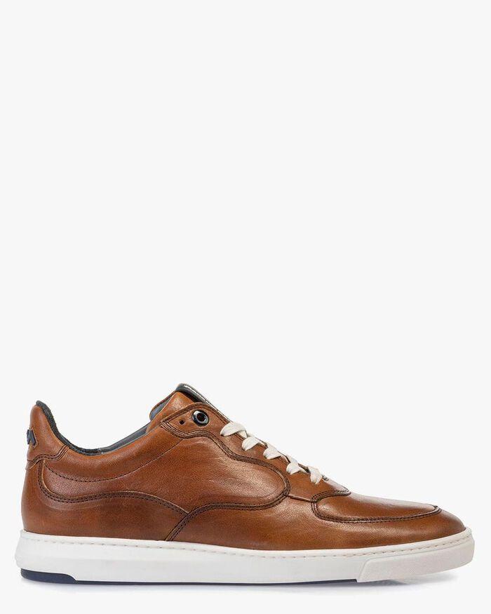 Sneaker cognac-coloured calf leather