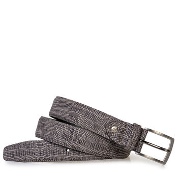 Belt with print taupe
