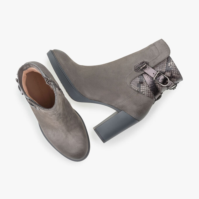 Nubuck leather ankle boot
