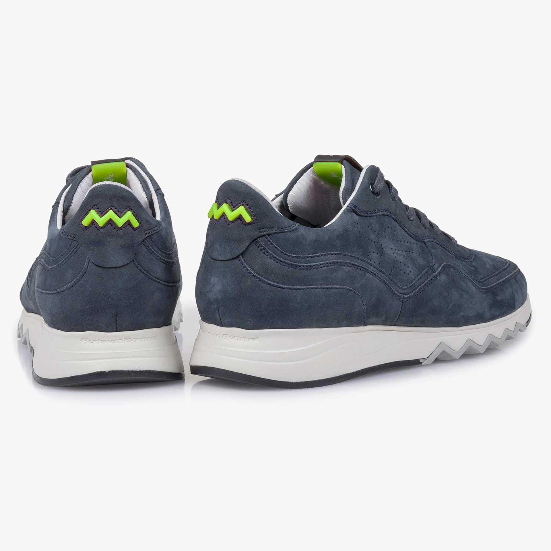 Blue nubuck leather sneaker