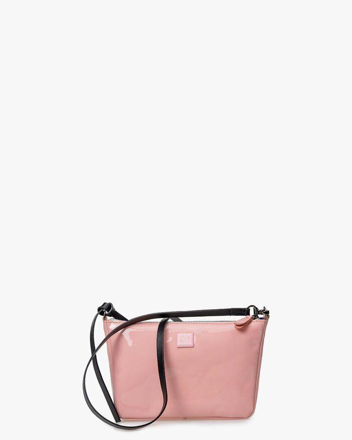 Cross body bag patent leather light pink
