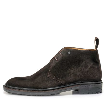 Leather lace-boot