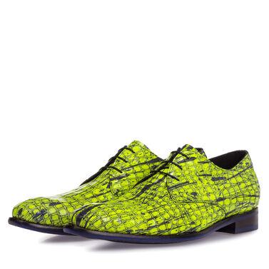 Premium leather lace shoe