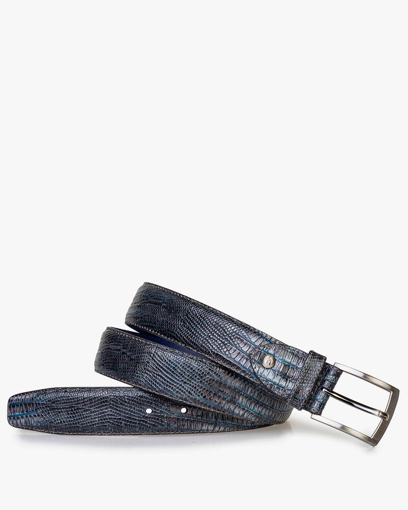 Belt with print grey