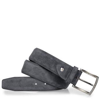 Suede leather belt black