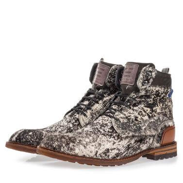 Premium pony hair lace boot