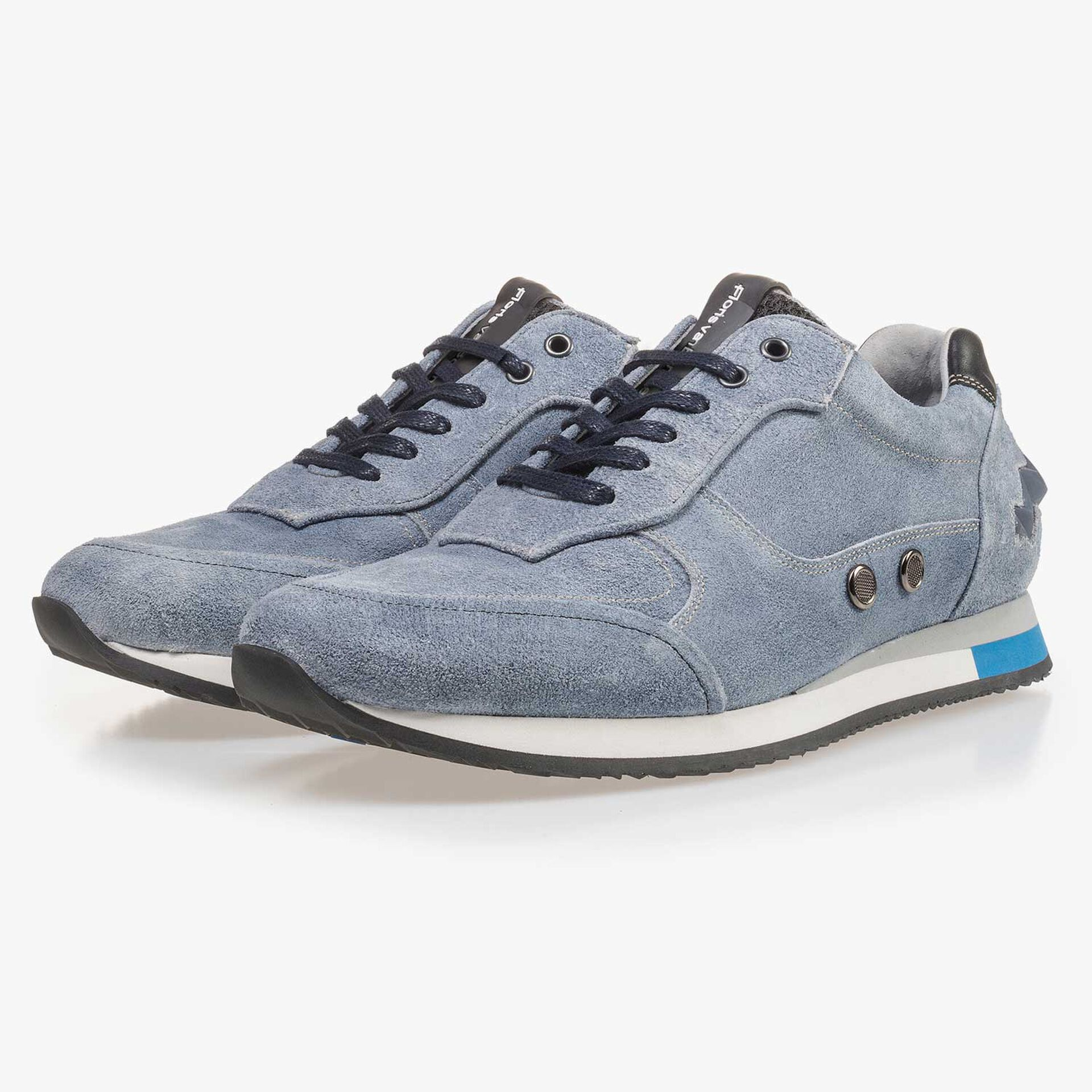 Light blue suede leather sneaker