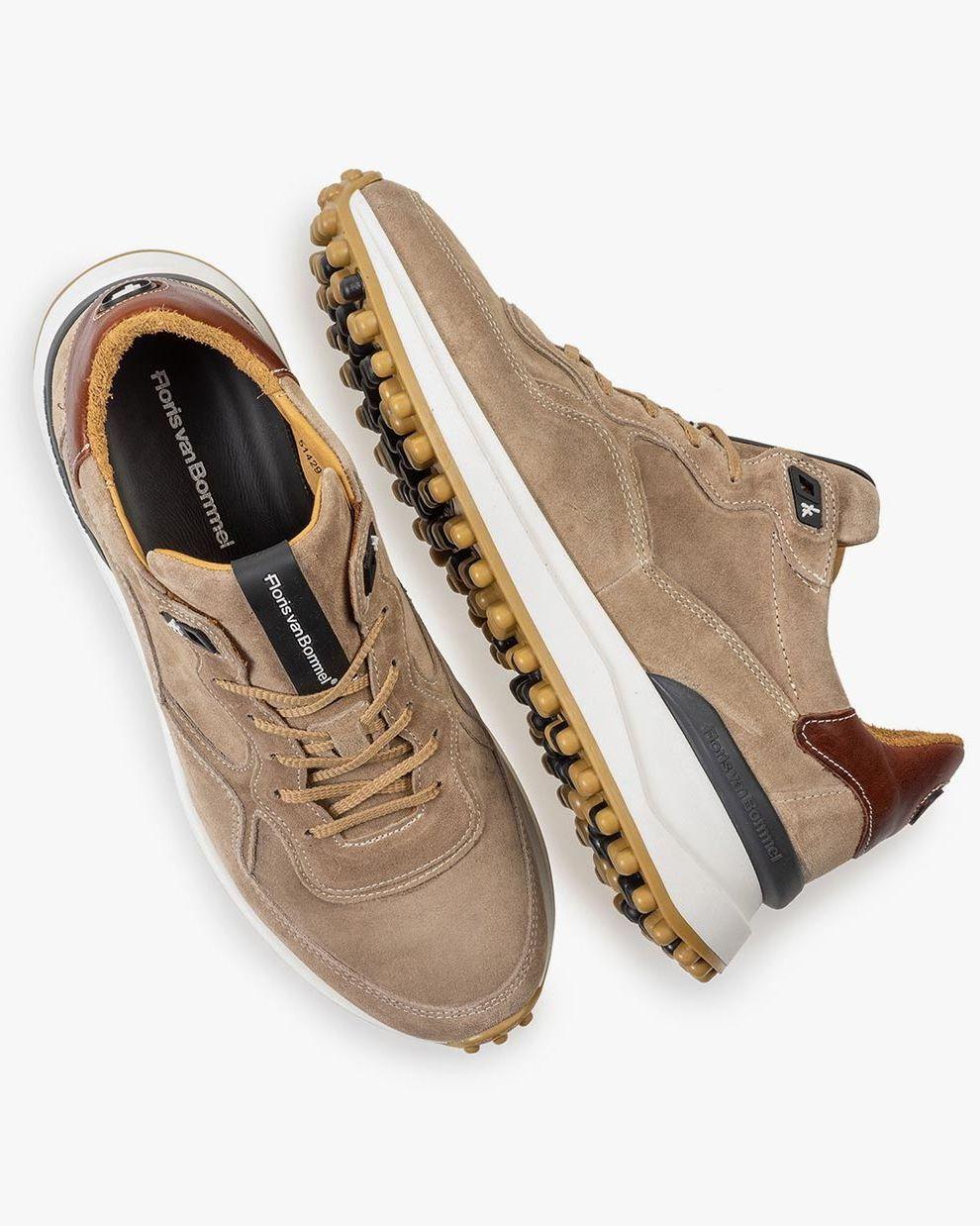 Beige suede leather sneaker 16301/19   Floris van Bommel Official