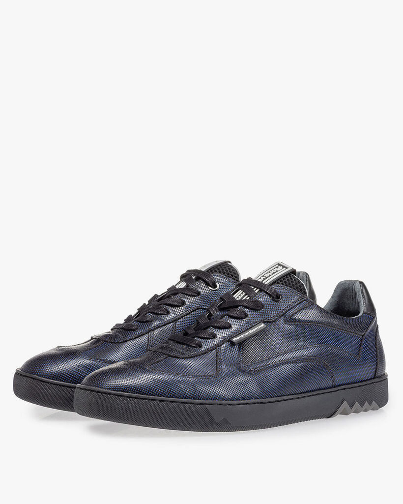 Sneaker dark blue metallic