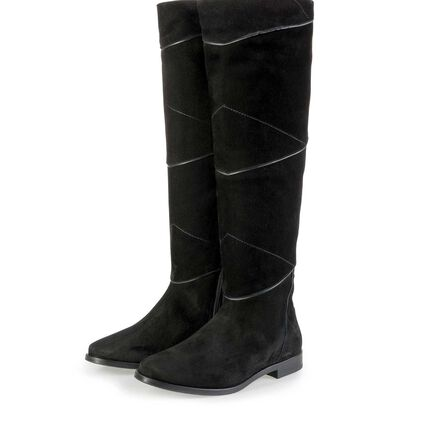 Floris van Bommel calf's suede leather boots