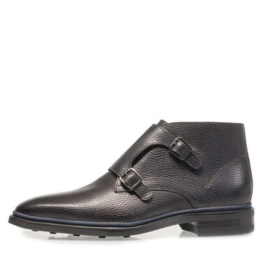 Casual monk strap with zipper