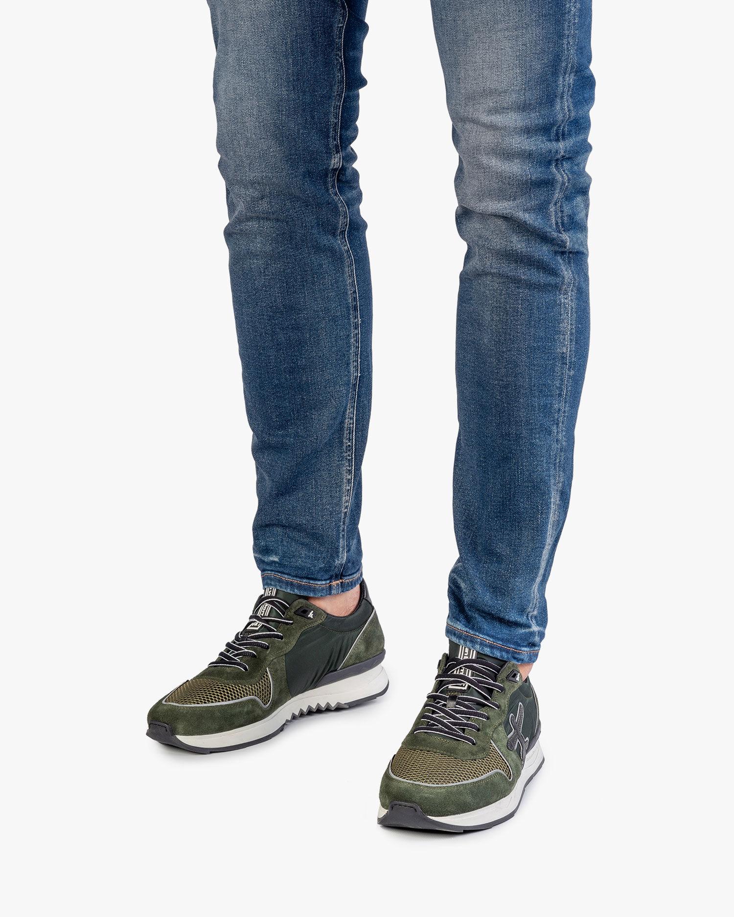 Green suede leather sneaker 16284/03 | Floris van Bommel Official®