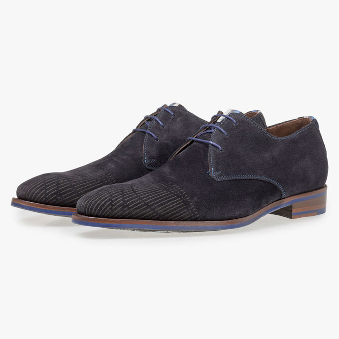 Calf leather lace shoe with laserprint