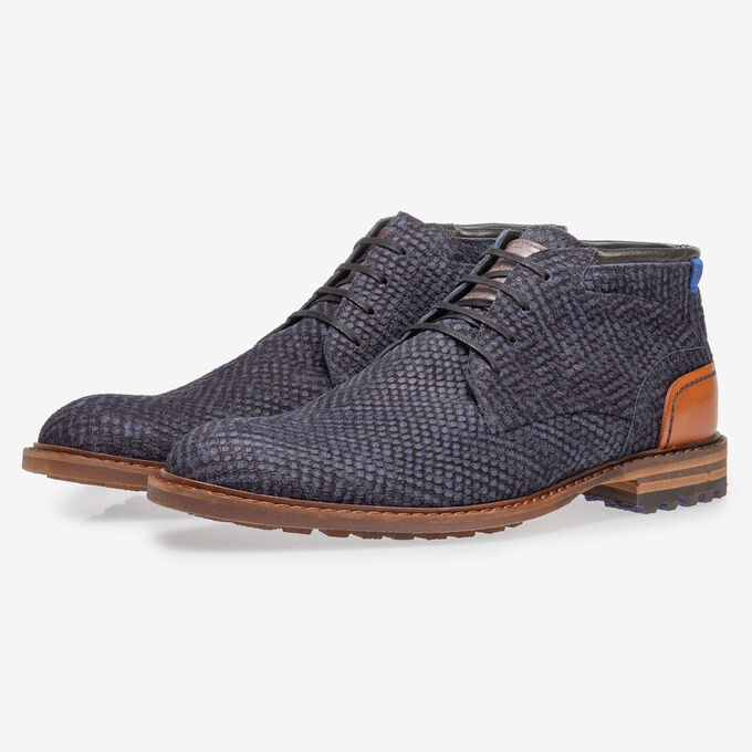 Crepi boot blue with print