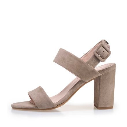 Leather heeled sandal