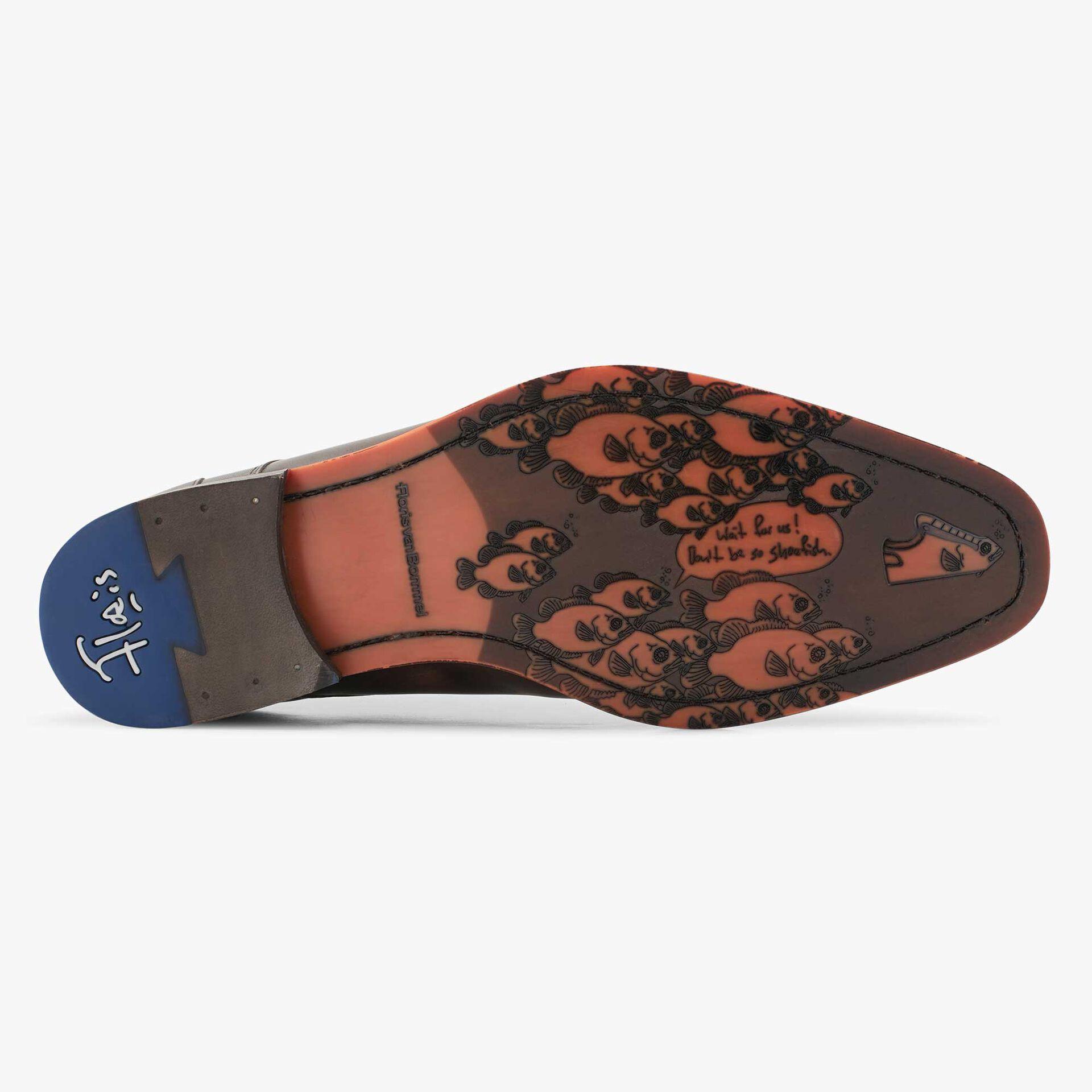 Floris van Bommel brown men's leather lace shoe
