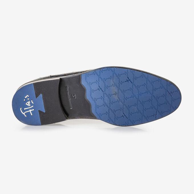 Chelsea boot croco print blue
