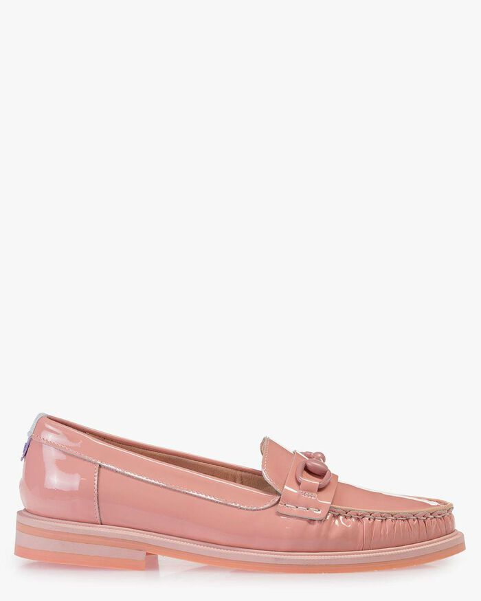 Loafer patent leather pink