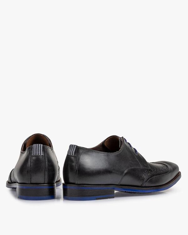 Lace shoe black calf leather