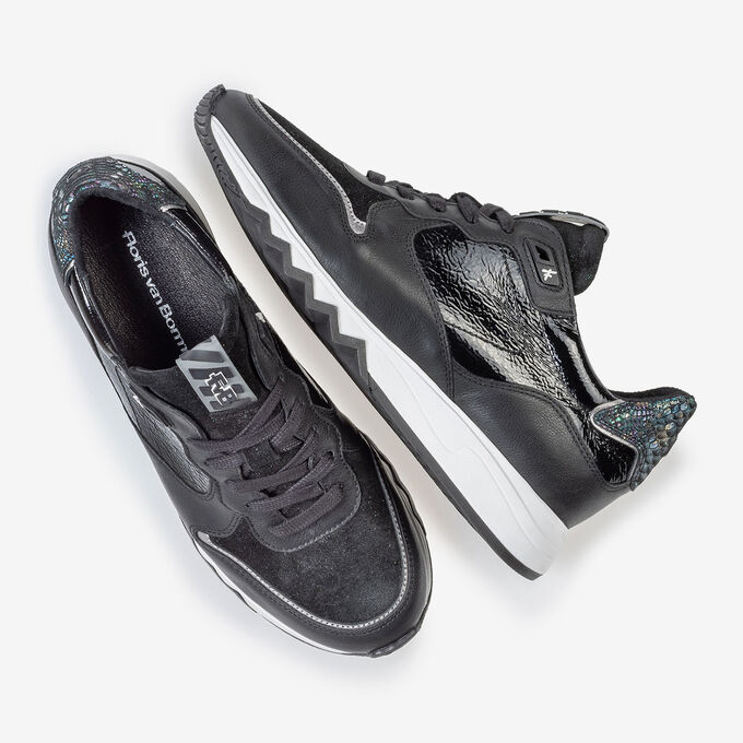 Nineti sneaker black leather