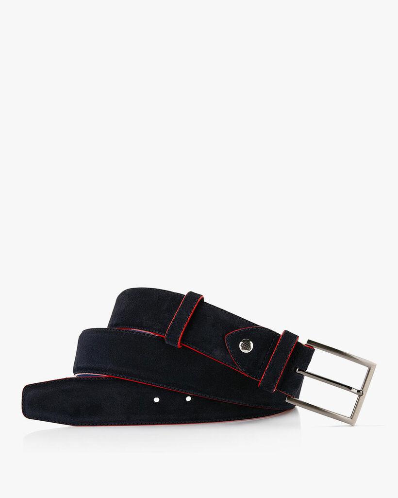 Belt suede leather blue