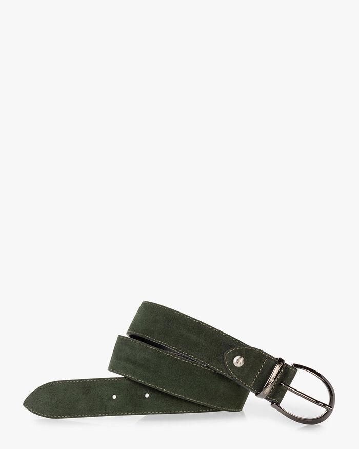 Belt suede green