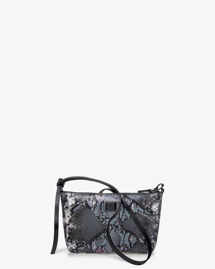 Cross body bag leather grey