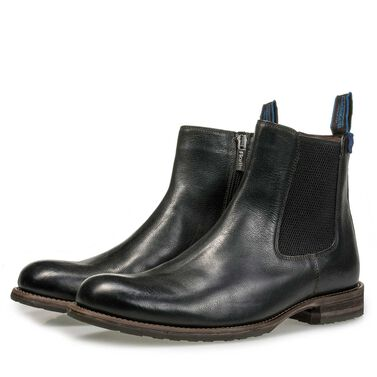 Fur-lined leather Chelsea boot