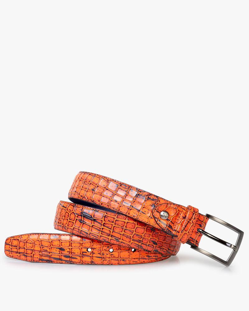 Belt patent leather orange