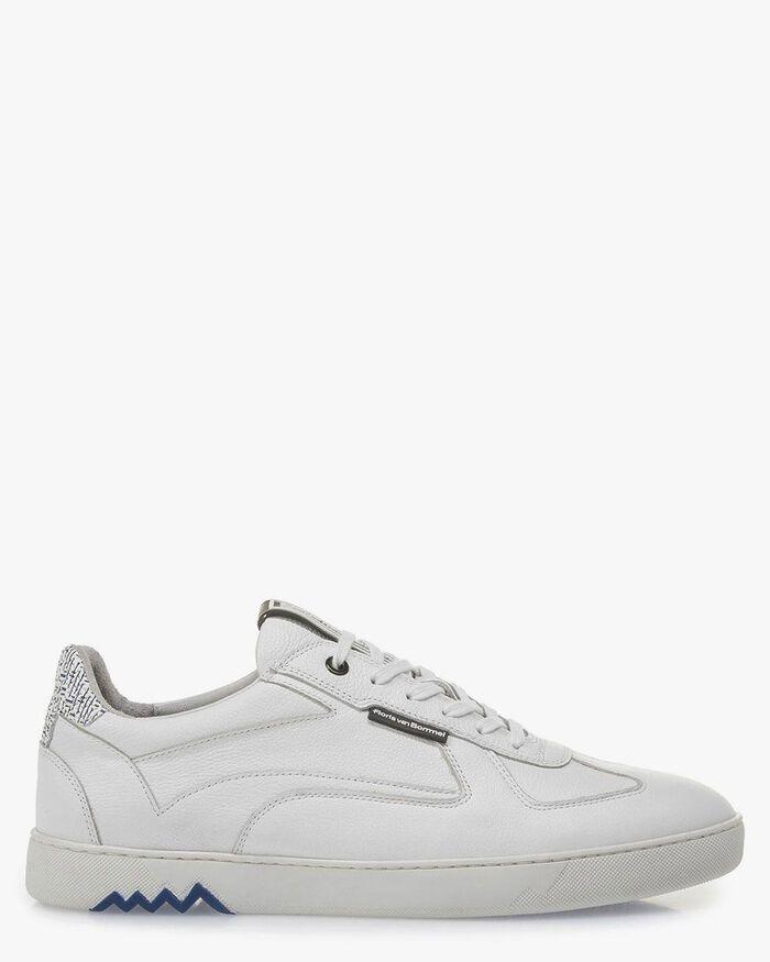 White calf leather sneake