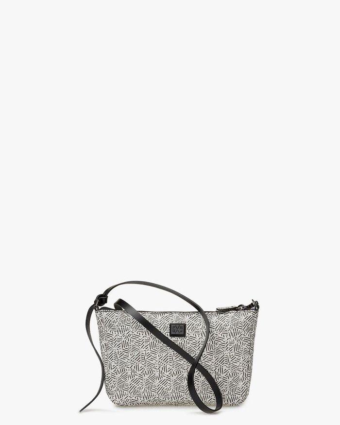 Cross body bag black & white