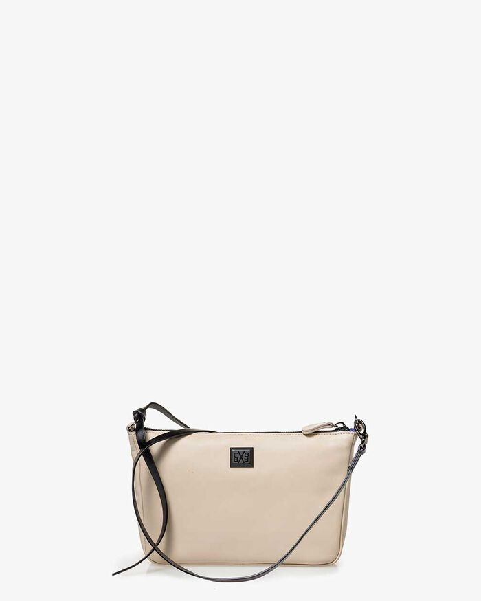 Cross body bag leather beige